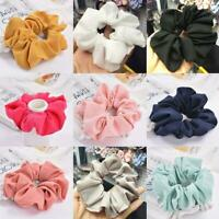 Women Chiffon Hair Scrunchies Hair Bow Hair Band Ponytail Holder Hair Ties Ropes