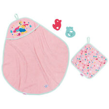 Baby Born Bath Hooded Towel Set Accessory for Doll