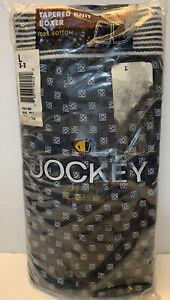 Vintage Jockey Men's L Tapered Knit Cotton Boxer Shorts Underwear NEW NOS USA