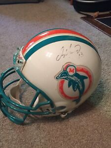 Dan Marino Signed Riddell Full Size Upperdeck Authentic Vintage Throwback