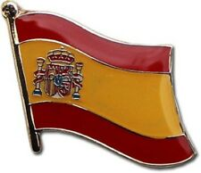 Spain Spanish Country Flag Bike Motorcycle Hat Cap lapel Pin