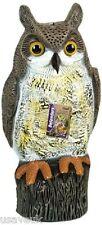 2 x Large Realistic Plastic Owl Decoy Bird Pigeon Crow Scarer Scarecrow