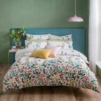 Cath Kidston Twilight Garden Bedding Duvet Cover 100% Cotton Bedding Set 200 TC