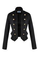 AO Blazer Uniform Stil  Knöpfe Military  Casual Business Jacke Schwarz XL 42