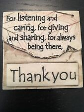 Small Thank You Magnet 2.25x2.25 Inches