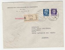 FRANCOBOLLI 1940 REGNO C.50 + L. 1,25 SU RACCOMANDATA MILANO 27/5 Z/6425