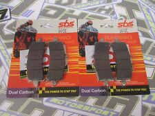 SBS Dual Carbon Racing Track Front Brake Pads for Brembo GP4RS Monoblock Caliper