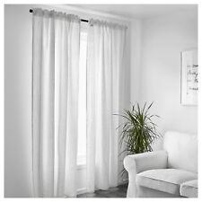 Ikea White Curtains Bedroom Window Living Room Linen Sheer Panel Blind 250x145cm