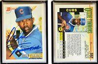 Ozzie Timmons Signed 1993 Bowman #552 Card Chicago Cubs Auto Autograph