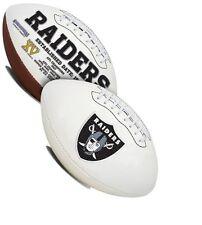 Oakland Raiders Rawlings NFL White Panel Team Full Size Fotoball Football