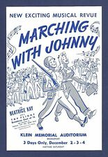 """Beatrice Kay """"MARCHING WITH JOHNNY"""" David Brooks / Jay Gorney 1943 FLOP Flyer"""
