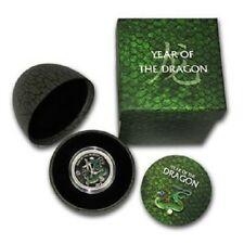 2012 Niue $2 Pearl Dragon 1/2 oz .999 Silver Coin in Dragons Egg Case