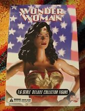 """WONDER WOMAN Classic / DC Direct 13"""" Deluxe 1/6th Action Figure MIB / JLA"""