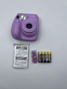 Fujifilm Lilac Purple mini 7S Instant Film Camera NO FILM Bundle New Open Box