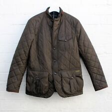 Polo Ralph Lauren Quilted Slim Fit Fitted Jacket Coat Men's Brown Large L