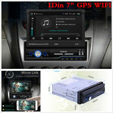 "Single Din Touch Screen Android 8.1 Car Stereo 7"" GPS Navi WiFi Radio Player MLK"