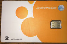 At&T Nano Sim Card 4G Lte 4Ff - 4488A - Gsm GoPhone Prepaid or Contract - New
