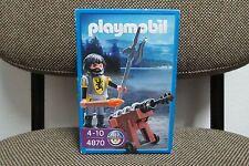 Playmobil - Medieval - Oficial Soldado Caballero Leon Cañon - 4870 - (NUEVO) OVP