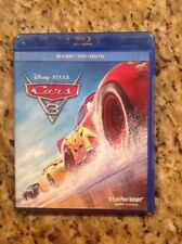 Cars 3 (Blu-ray/Dvd,3-Disc,2017) Authentic Disney Us Release