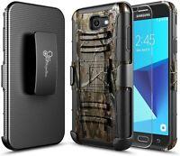 For Samsung Galaxy J7 Prime/Sky Pro/J7 V Holster Case Belt Clip Phone Cover