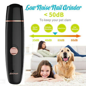 Electric Dog Toe Nail File Grinder Clippers Pet Cat Claw Grooming Trimmer Tools