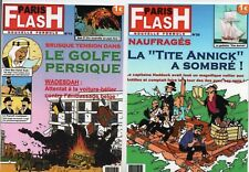 Carte Postale Tintin -  2 cartes PARIS FLASH. Pastiche IMAGES DE TINTIN 2017