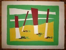 Gischia Léon lithographie signée numérotée art abstrait abstraction Venise
