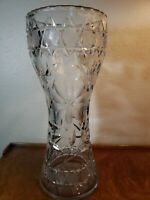 "Large Vintage ABP American Brilliant Deep Cut Crystal Vase Art Nouveau 12"" Tall"