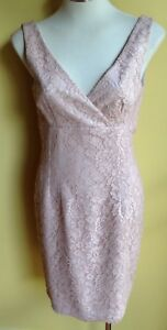 Me Too Dusty Pink Lace Dress Size 10 NWT RRP $420.00