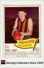 RARE FIND-1966 VFL Scanlens Card #58 Phil Hay ( Hawthorn)-EXCELLENT