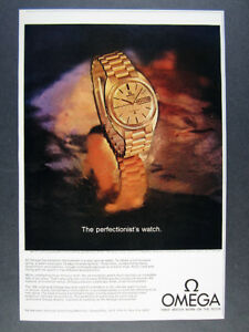 1969 Omega Constellation Chronometer Gold Watch photo vintage print Ad