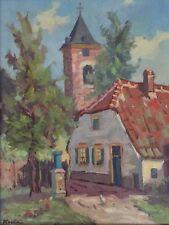 Carl Houbein - Oil Painting - Old Dutch Home - Monrovia, Calif. Studio