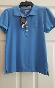 NWT GIRLS JUICY COUTURE BUTTON POLO SHIRT $68 SIZE 7/8