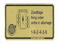 porsche stickers nine eleven FIRING ORDER DECAL 911 1965 – 1978