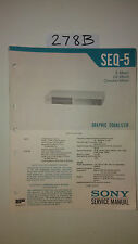 Sony seq-5 graphic equalizer eq service manual original repair book