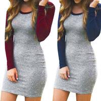 Fashion Women Knitted Bandage Pencil Bodycon Casual Party Clubwear Mini Dress
