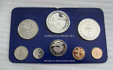1979 BARBADOS SILVER COIN SET CROWN $1-$2-$5- $10 DOLLARS PROOF