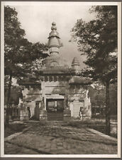 1920's CHINA GRAVURE PAGEANT OF PEKING DONALD MENNIE - STUPA IN YELLOW TEMPLE