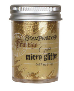 Stampendous MG02  Frantage Micro Glitter .67oz-Gold