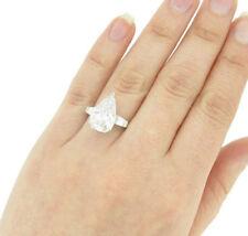 3 Stone GIA Certified Pear Shape Diamond Engagement Ring 3.20 Carat Platinum
