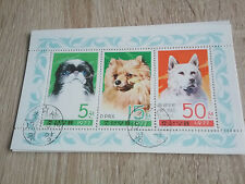 Korea - Blockausgabe  Hunde, gestempelt, D1,