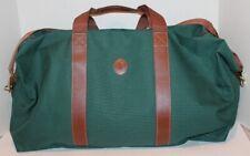 "Polo Ralph Lauren Duffle Bag - Hunter Green Canvas Carry On -22""- NEW"