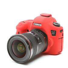 EasyCover Pro Piel de silicona caso de armadura de cámara para adaptarse a DSLR Canon EOS 6D-Rojo