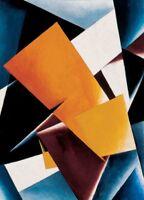 Painterly  Architectonic, 1918, Lyubov Popova Russian Suprematism Cubism Poster