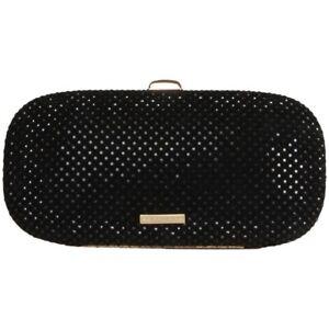 Fornarina Clutch B641X18800 Evening Bag Black Glitzer Handtasche Damen NEU & OVP