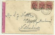BOER WAR CENSORED COVER TO VELP NETHERLANDS OPENED UNDER MARTIAL LAW 1901