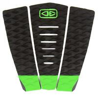 Ocean And Earth 3 Piece Traction Surfboard Grip Simple Jack Tail Pad Black/Lime