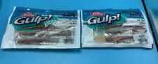 Berkey Gulp! Shrimp Saltwater Fishing Soft Bait 3 inches New Penny Lot Of 2