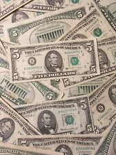 (1) $5- FIVE DOLLAR FEDERAL RESERVE NOTE/BILL- OLD CURRENCY- SMALL HEADS!