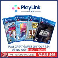 Playstation 4 Playlink PS4 Bundle 4 Games Singstar Hidden Agenda Knowledge Power